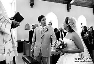 Wedding ceremony at St. Peter's Catholic Church in Washington, Virginia