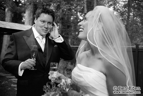 Unposed photograph of a Bride and Groom enjoying their wedding day in Washington, DC